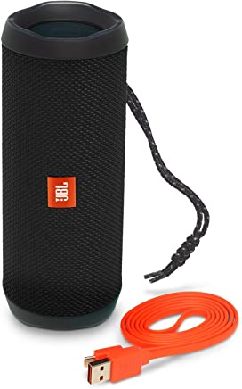 JBL FLIP 4 IPX7 Waterproof Wireless Portable Bluetooth Rechargeable USB Speaker (Black) (Renewed)