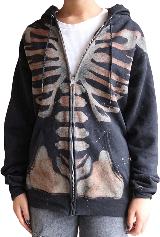Hoodies for Women Y2k Tops Halloween Long Print Skull Coat High Sales results No. 1 quality new Sleev
