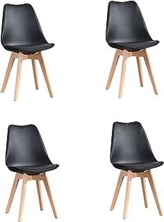 ArtDesign FR Tulip sillas de Comedor Moderno, Juego de 4,