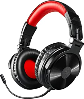 Bluetooth Over Ear Headphones, OneOdio Wired Gaming Stereo Headsets with Detachable Mic for PS4, Xbox one, PC, Cell Phones, Office, Wireless Headset with 30 Hrs Play Time [Only Wired Mode for Gaming]