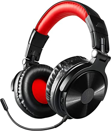 $43 Get Bluetooth Over Ear Headphones, OneOdio Wired Gaming Stereo Headsets w/Detachable Mic for PS4, Xbox one, PC, Cell Phones, Office, Wireless Headset w/ 30 Hrs Play Time - Studio Wireless(Y80B)