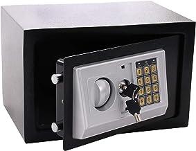 Panorama24 Tresor Safe met elektronisch cijferslot 31x20x20cm LED-display stalen bouten, zwart, incl. 4 batterijen, meubel...