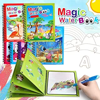 Zoais Kids Magic Water Colouring Book (Pack of 4 Books) Unlimited Fun with Water Wow! Aqua Doodle Coloring Drawing Reusabl...