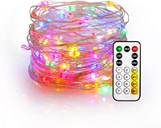 YIHONG Fairy String Lights USB Powered - 33ft Firefly Twinkle Lights Multicolored Lights for Christmas Party Decoration Wedding Festival - RF Remote with 8 Dynamic Flashing Modes