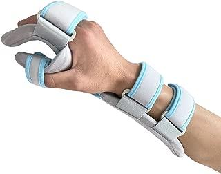 Hand Splint Functional Resting Wrist Support Moderate Stabilizing Brace for Carpal Tunnel, Tendinitis & Inflammation, Hand/Wrist/Thumb Immobilization, Forearm Wrist Splint, Right, L