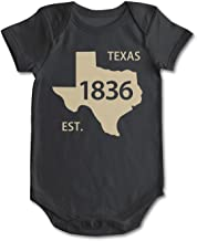 bbabylike Texas State Map Est.1836 Cool Design Baby Girl Boy Outfit
