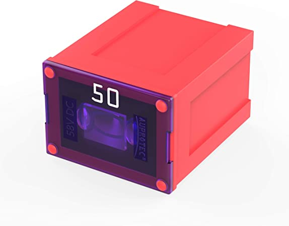 Auprotec Jcase Lp Blocksicherung Low Profile Oto Jlp Female 20a 60a Auswahl 50a Ampere Rot 5 Stück Auto
