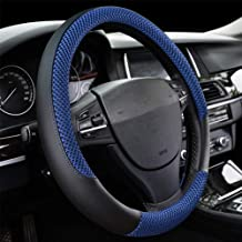 Car Steering Wheel Cover, DC Microfiber Leather Anti-slip Universal 15