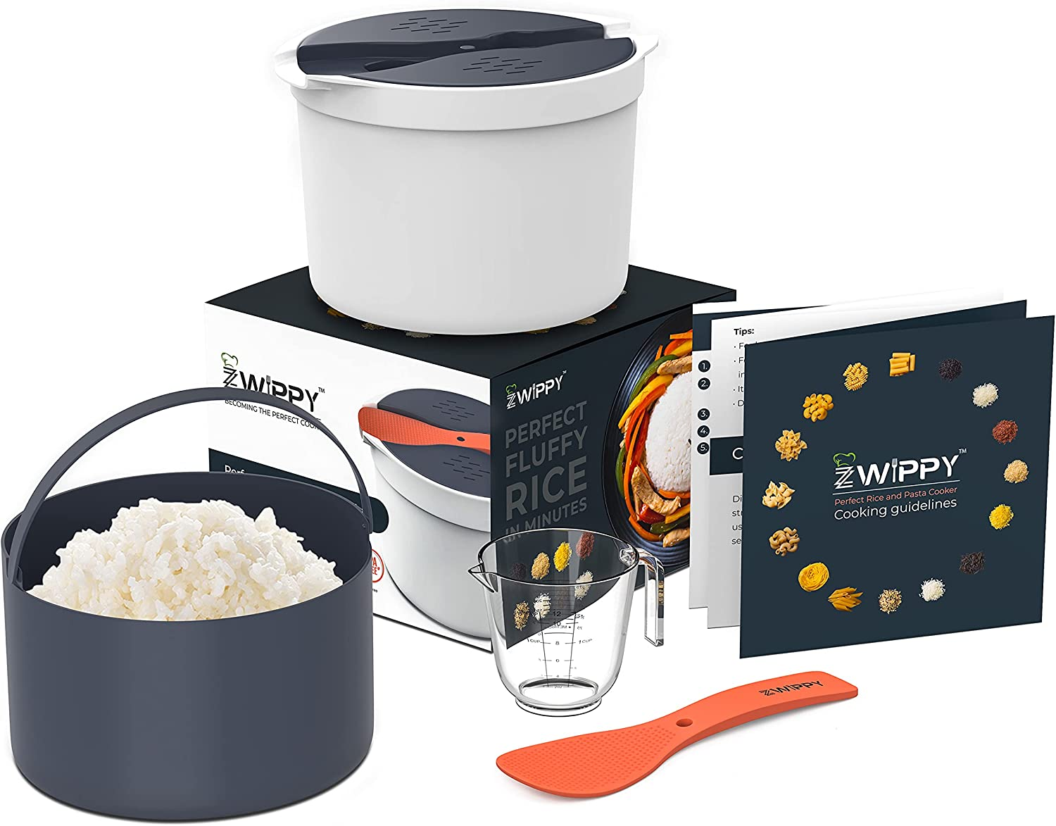 Zwippy Microwave Rice and Under blast sales Pasta Cooker Easy Max 62% OFF or Cooking Reheati -