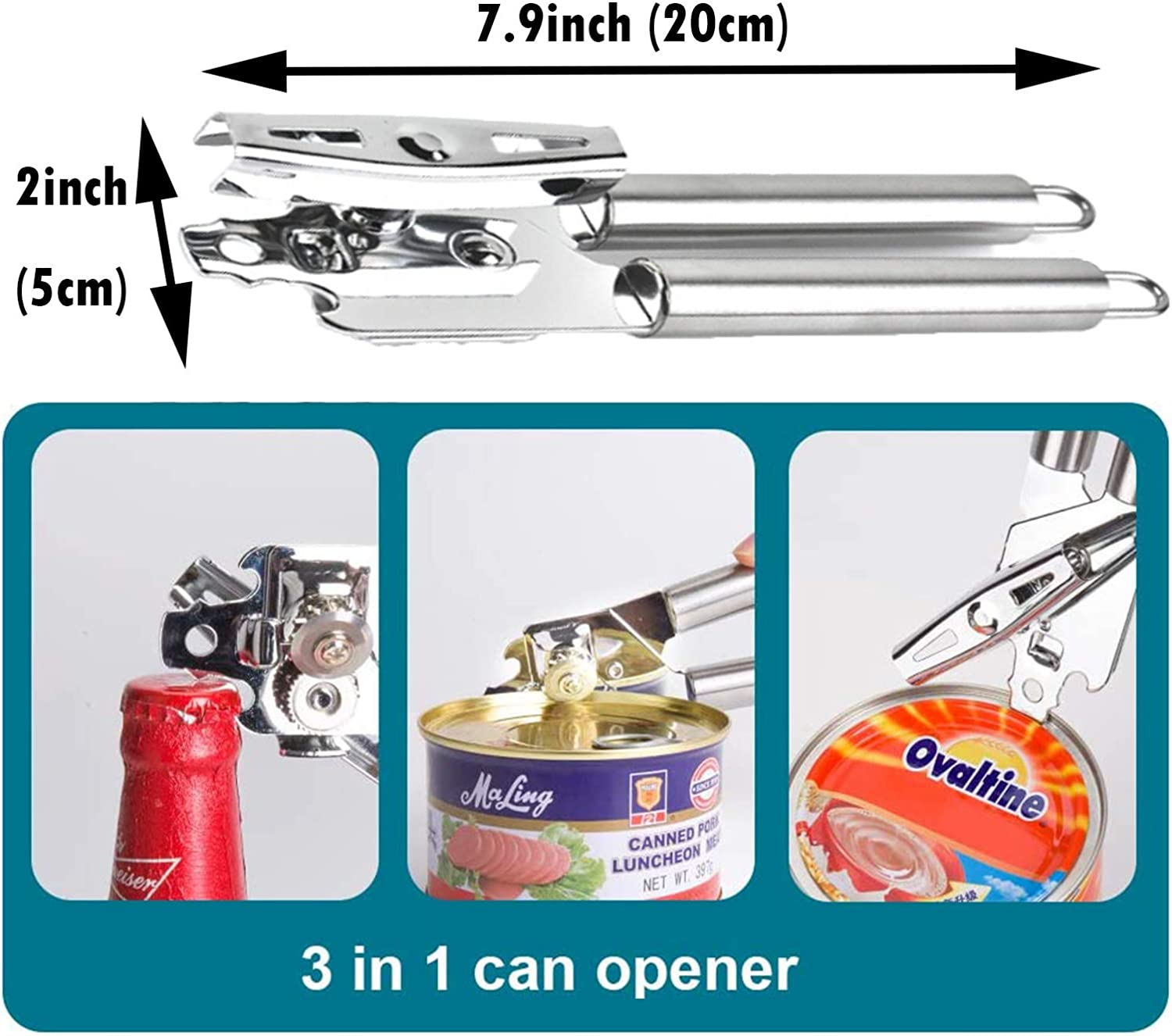 8 in 1 Can Opener Use Effortless and Safe with Smooth Edges ...