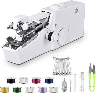 Máquina de coser de mano, mini máquina de coser portátil sin cable, mini máquina de coser para principiantes máquina de co...