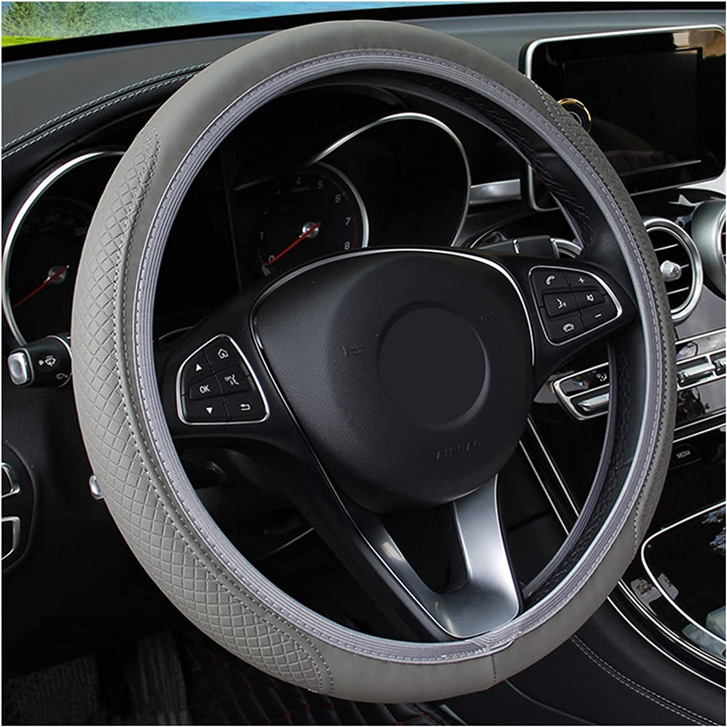 Steering Wheel Cover Embossed leather online shopping car wh steering Max 60% OFF non-slip