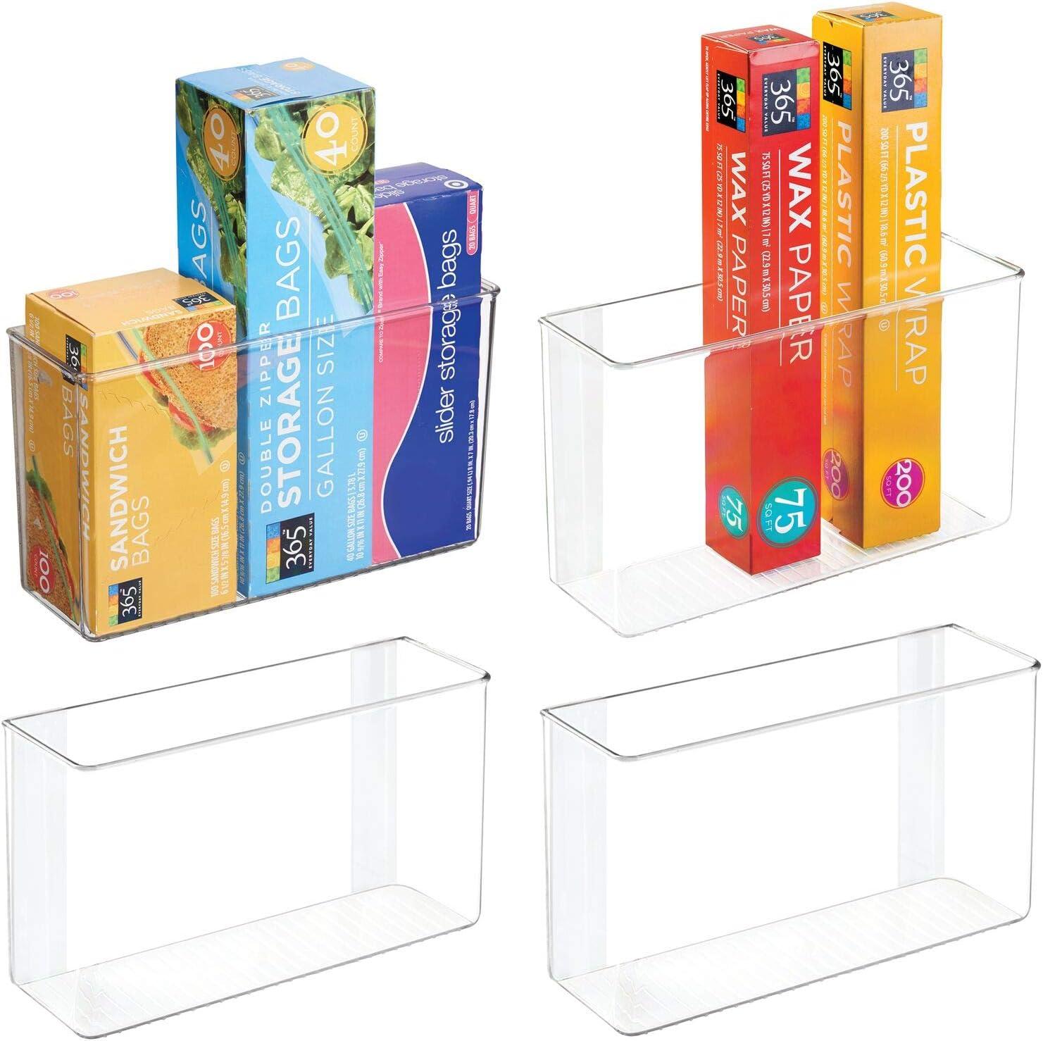 mDesign latest Plastic Columbus Mall Adhesive Storage Organizer Kit for Container Bin