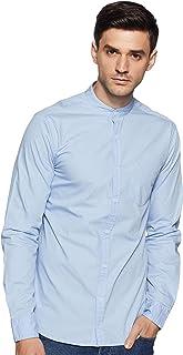 Amazon Brand - Symbol Men's Solid Regular Casual Shirt