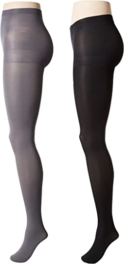 Calvin Klein - Opaque Tights with Control Top 2-Pair Pack