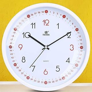Silent Kids Wall Clock Non-Ticking, 11 Inch, Tilted Design Kids Teaching Clock, Quartz Movement, Modern Analog Wall Clock ...