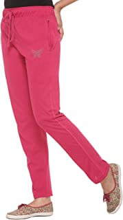 CUPID Regular Fit Cotton Track Pant, Sports Lower, Night Pant, Joggers for Lounge Wear and Daily Use Gym Wear for Women