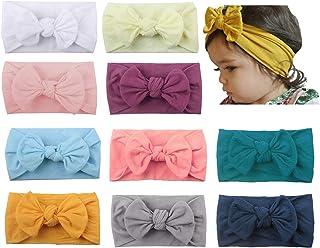 Sarfel Baby Girl Headbands with Bows Newborn Toddler Headbands Infant Nylon Turban Hairbands Hair Accessories for Girls