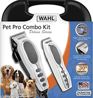 Phumon567 Professional Deluxe Pet Grooming Cordless Trimmer Dog Cat Kit Wahl Clippers