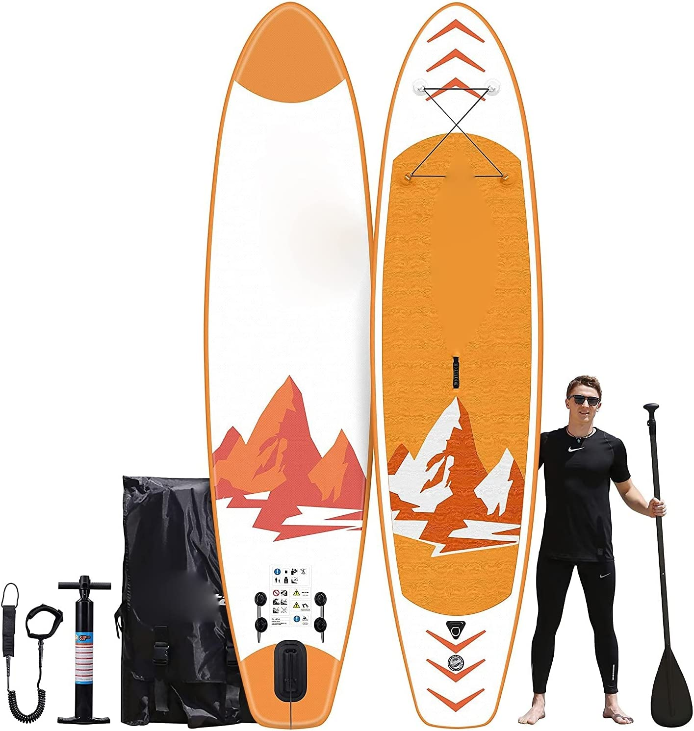 GGZZ Bombing free shipping Famistar 12' quality assurance All-Around Inflatable up - Paddle Board Stand