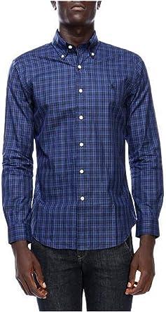 Ralph Lauren Camisa Polo Cuadros Azul/Negro XL Dawn Blue ...