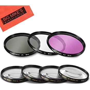 Multi-Coated /& Threaded Includes Filter Adapter High Grade Lens Filter Kit for Fujifilm XF 10