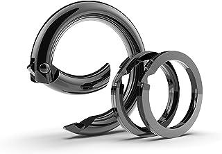 Lifelong Ring Fashion Carabiner Keychain w/ 2 Matching Key Rings Set, 100 Series Universal Size, Pure Round Circle Design,...