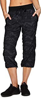 Active Women's Fashion Lightweight Stretch Woven Body Skimming Drawstring Capri Pant