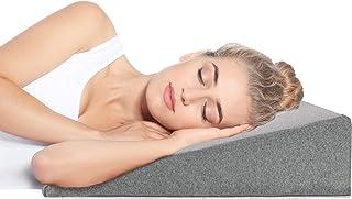 Cuña Antireflujo Adulto - Con Funda de Algodón OEKO TEX - Almohadas Para Reflujo ácido Dolor de Espalda, Alivio de los Ronquidos - Almohada Para la Cama de 90 CM Ideal para Dormir, Lectura (Grey)
