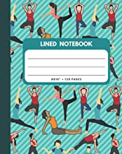 Lined Notebook: Yoga Cover 8x10