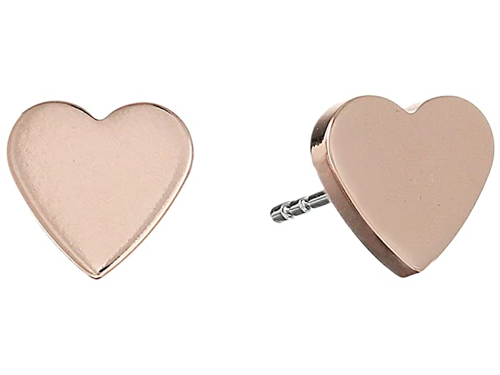 Fossil Heart Studs Earrings