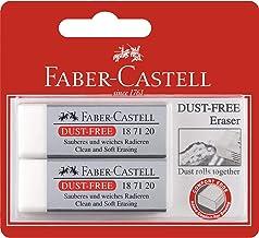 Faber-Castell Dust-Free Eraser White 2 Pack, (82-187165)