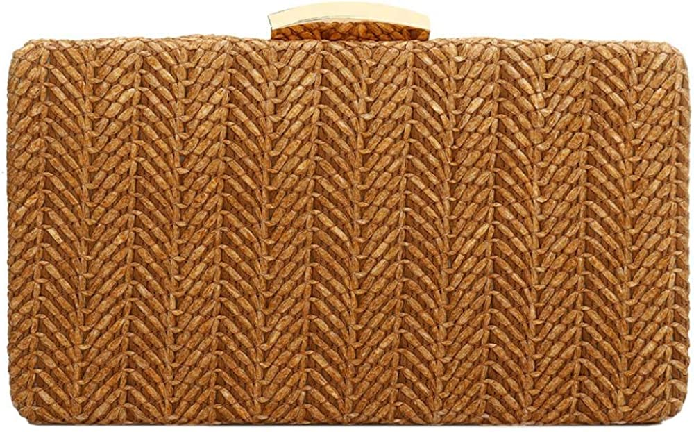 Straw Clutch Recommendation Weave Woven Evening Bag Purse Wallet Shoulder Max 75% OFF