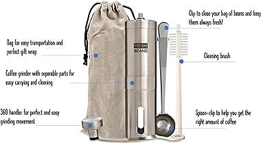 FRESH BEANS - FULL KIT Stainless Steel Manual Coffee Grinder