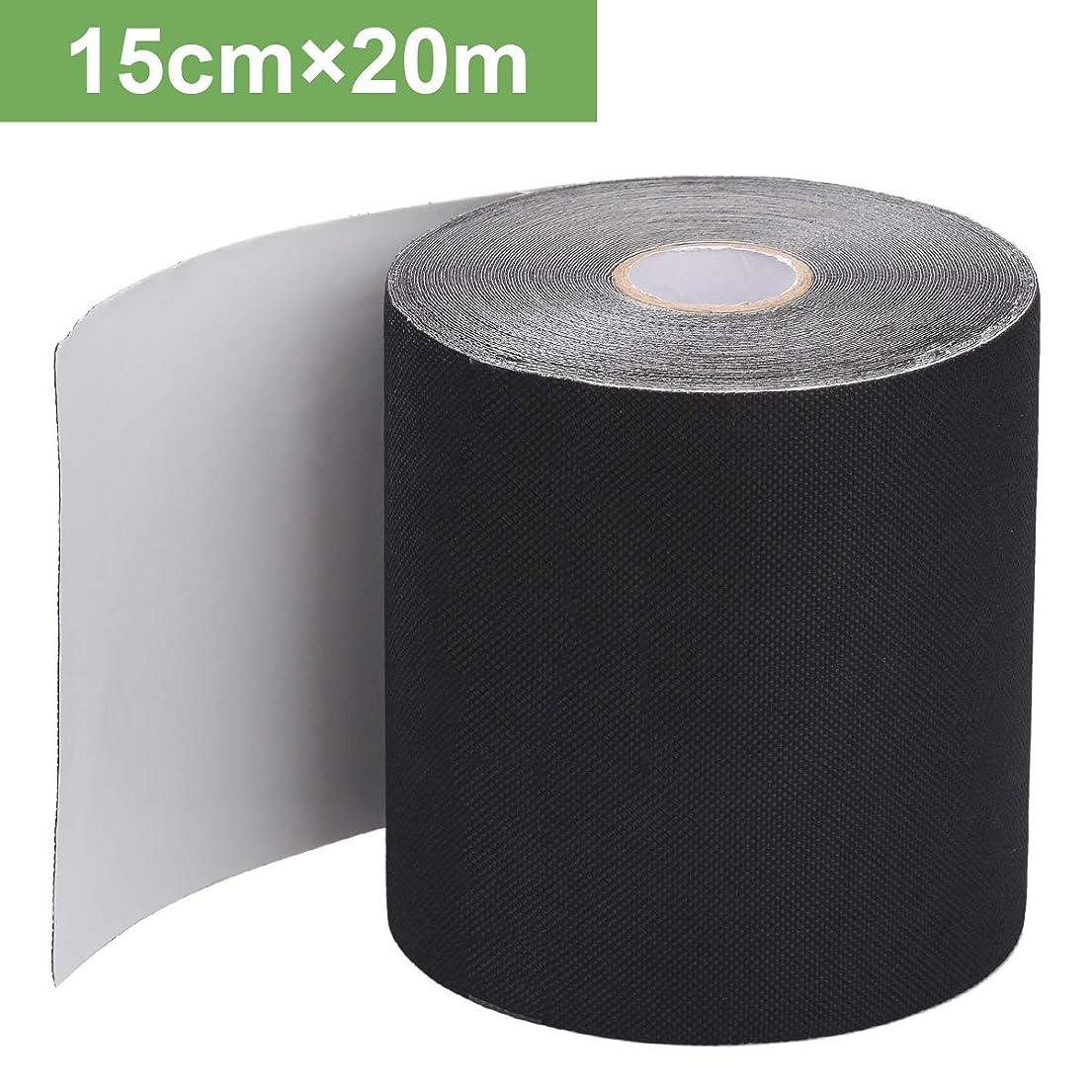 前奏曲部語人工芝 テープ 長さ20M×幅15CM 人工芝連結用 固定用 防草シートテープ 片面テープ 強力ワイドタイプ 接続テープ 自己接着 継目裏貼りジョイント用 庭やガーデン用