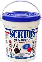 Aparoli DY42272 Toallas húmedas Scrubs In-a-Bucket para limpiar las manos, 72 unidades