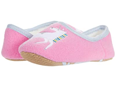 Joules Kids Slipper and Soft Toy Set (Toddler/Little Kid/Big Kid) (Pink Unicorn) Girl