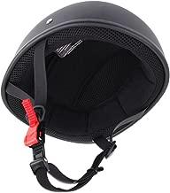 Sange Skid Lid Original Flat Black DOT Half Helmet Motorcycle Beanie (L)