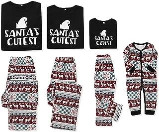 Christmas Pajama Family Matching Santa Cotton Sleepwear Homewear for Unisex Kids Newborn Toddler Women Man