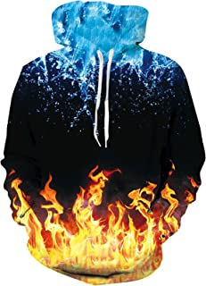 ALISISTER Unisex Felpa con Cappuccio Uomo Donna 3D Manica Lunga Hoodie Hooded Pullover Sweatshirt con Tasche