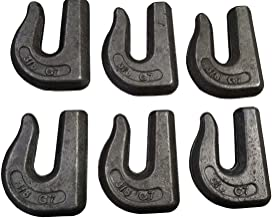 Set of 6 Weld on Grab Chain Hooks 3/8
