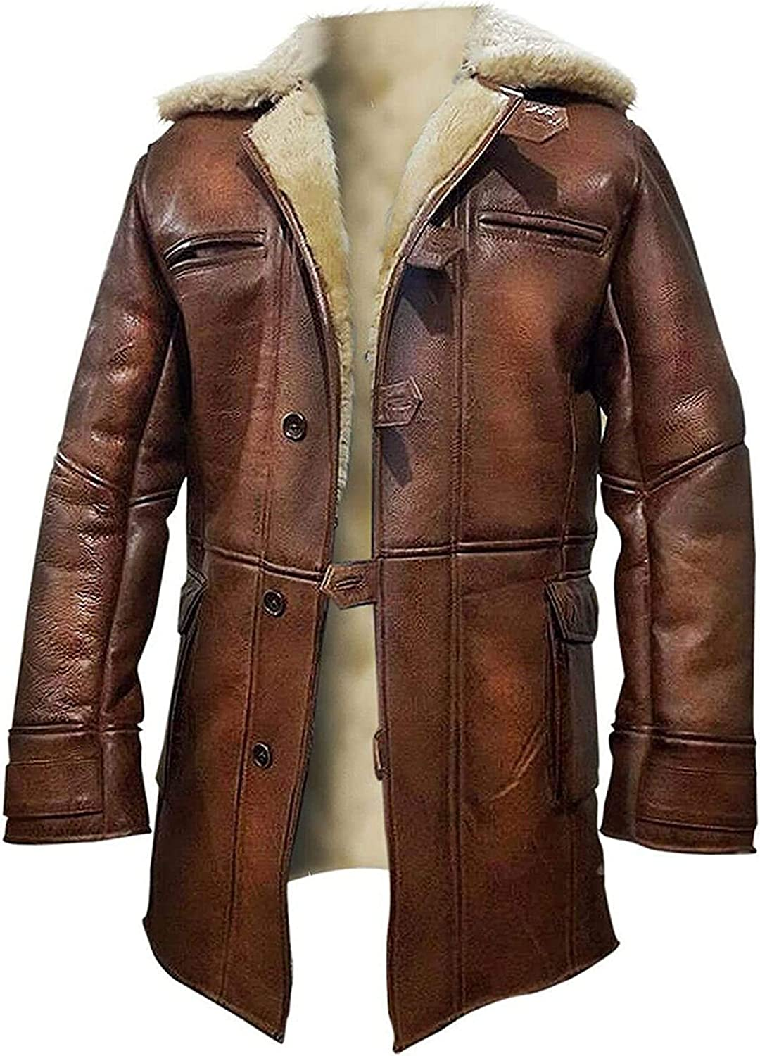 LP-FACON Mens Cosplay Hero Star Costume Leather Trench Coat Winter Collection
