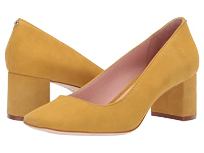 Kate Spade New York Kylah Block Heel Pump (Mustard Suede) High Heels