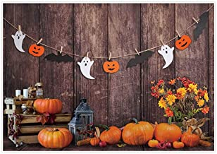 Allenjoy 7x5ft Autumn Wood Backdrops for Photography Wrinkle Free Great Pumpkin Patch Halloween Farm Thanks Giving Brown Wooden Wall Baby Shower Kids Newborn Portrait Background Photo Studio Shooting