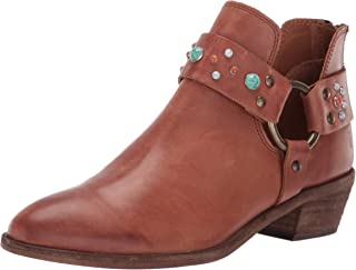 Women's Ray Stone Harness Back Zip Ankle Boot