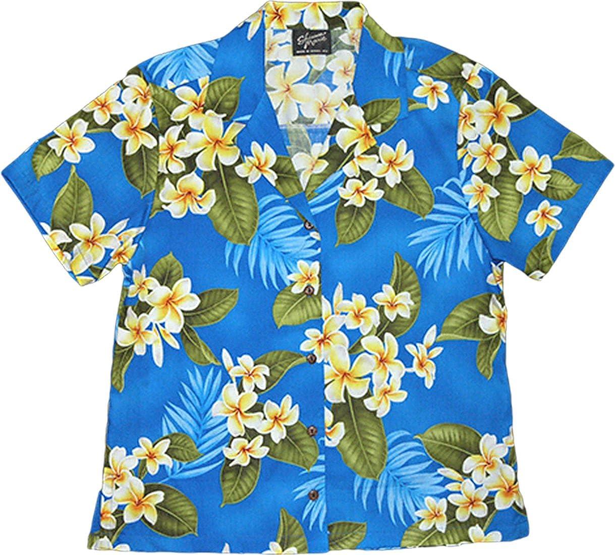 RJC Women White Over item handling ☆ Yellow Camp Max 87% OFF Plumeria Shirt