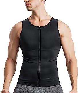 CtriLady 加圧シャツ メンズ 加圧インナー シャツ 機能性インナーシャツ ランニングウェア スポーツ トレーニング ウェア トレーニング 吸汗速乾 インナー 姿勢矯正 スポーツウェア タンクトップ メンズ お腹引き締め 補正シャツ 黒 男性用