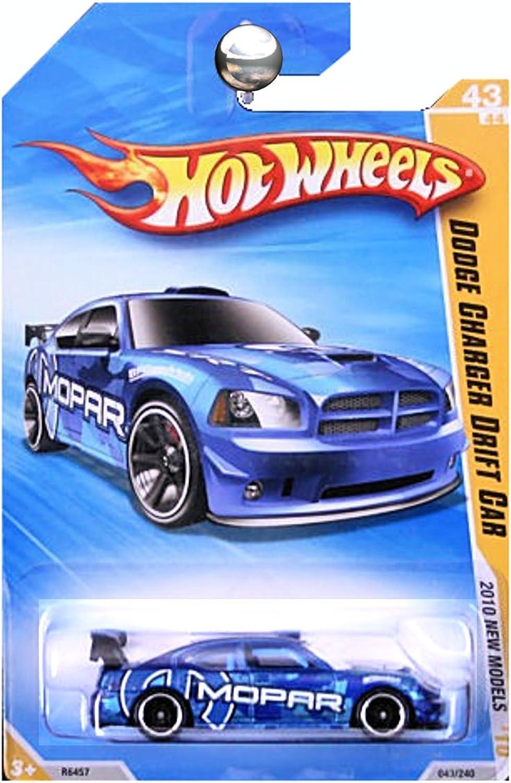 Hot Wheels 2010-043 New Models Dodge Charger Drift Car blueE Mopar 1 64 Scale by Hot Wheels