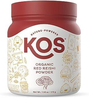 KOS Organic Red Reishi Mushroom Powder - Pure Ganoderma Lucidum (10:1 Reishi Extract) - Immune System Support, Mood Booste...