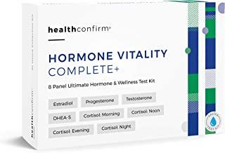 HealthConfirm - Hormone Vitality Complete - at-Home Test Kit - 8 Panel Full Day Hormone Balance Saliva Collection Kit